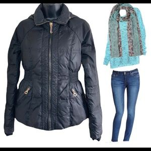 Juicy Couture black puffer jacket size XS